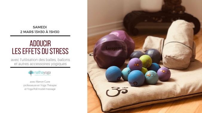 adoucir les effets du stress par yoga balles (1)